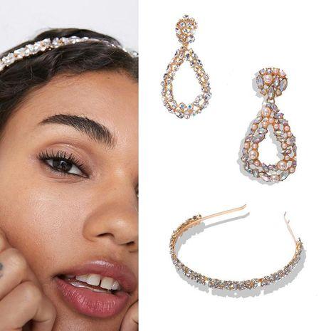 Alloy diamond drop earrings wholesale NHJQ185856's discount tags