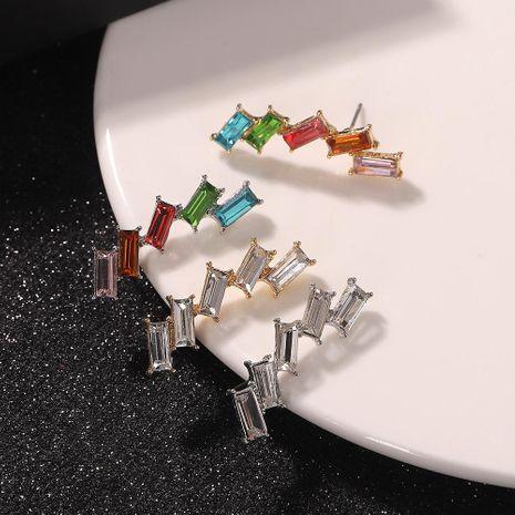 Korean style new alloy diamond earrings fashion unilateral earrings NHJQ185864's discount tags