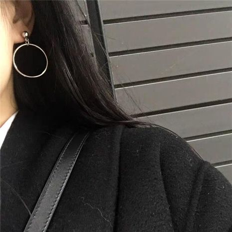 New alloy earrings temperament big circle face small earrings wholesale NHJQ185869's discount tags
