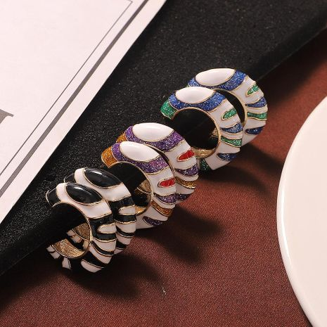 Alloy earrings fashion metal earrings simple style jewelry accessories NHJQ185870's discount tags