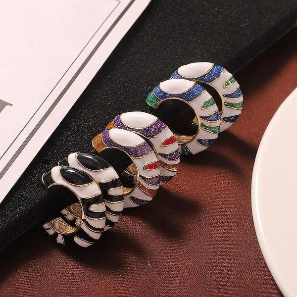 Alloy earrings fashion metal earrings simple style jewelry accessories NHJQ185870