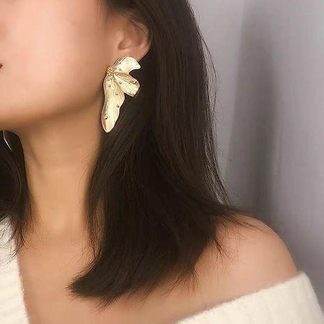 Simple Irregular Leaf Earrings NHGY185779's discount tags
