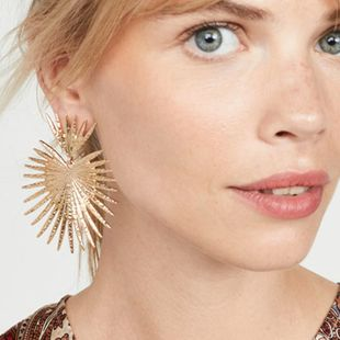 Punk cutout leaf earrings wholesales fashion NHGY185795's discount tags