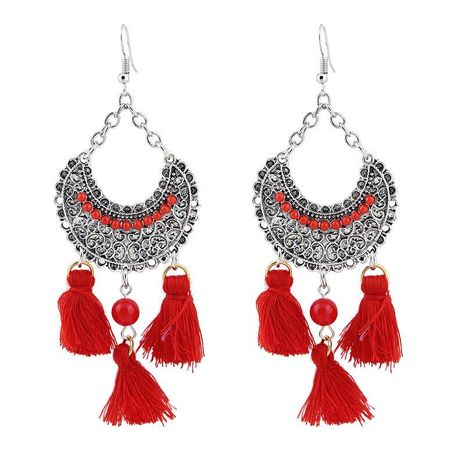 Earrings cotton tassel Korean version NHJE185841's discount tags