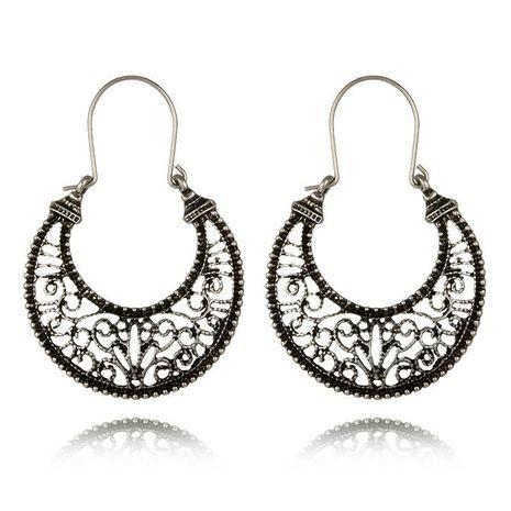 Vintage alloy moon skeleton Roman pattern earrings NHGY185792's discount tags