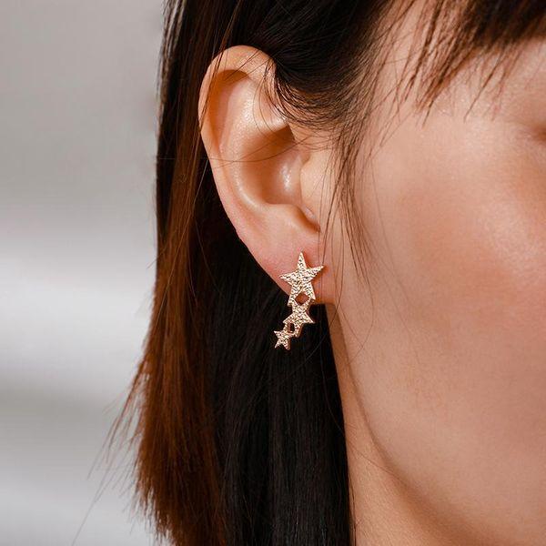 Simple wild alloy irregular star stud earrings NHGY185798
