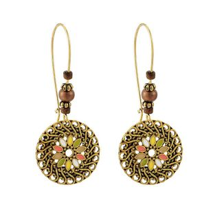 Bohemian Vintage Hollow Round Earring Earrings NHGY185799's discount tags