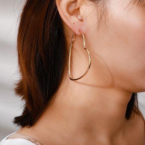 Alloy Joker Hollow Heart Stud Earrings NHGY185800's discount tags