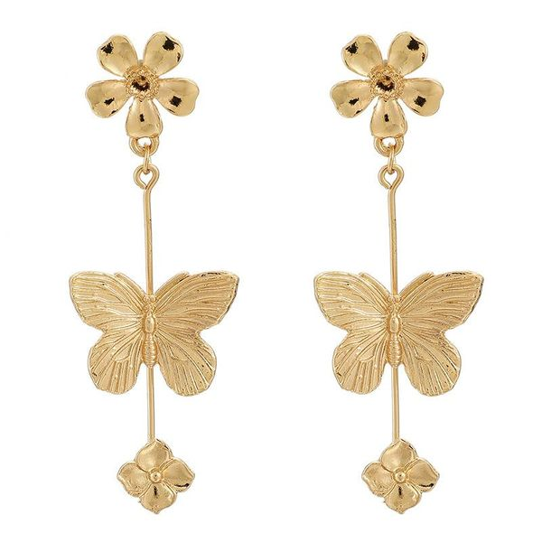 Flower and Butterfly Long Earrings wholesales fashion NHGY185809