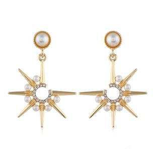 Fashionable personality pearl earrings NHVA186021's discount tags