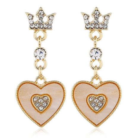 Fashion personality wild earrings simple temperament long love earrings NHVA186023's discount tags