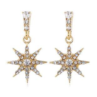Exaggerated star diamond diamond earrings women wholesales fashion NHVA186024's discount tags