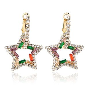 Fashion alloy star-shaped diamond earrings NHVA185989's discount tags