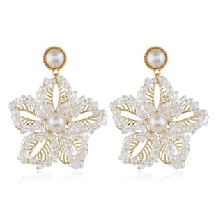 Earrings wholesale retro personality wild jewelry ladies crystal flowers wholesales fashion NHVA185991's discount tags