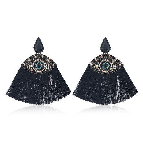Fashion alloy eye color long tassel earrings for women NHVA185996's discount tags