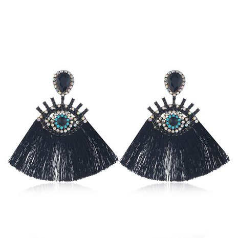 Earrings wholesale fashion personality exaggerated multicolor long fringed NHVA185997's discount tags