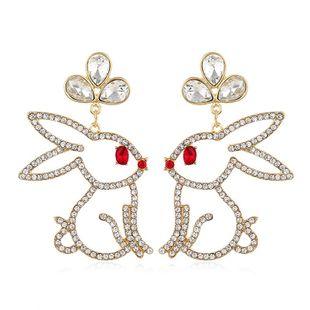 Retro fashion long cute rabbit earrings for women wholesales fashion NHVA186000's discount tags