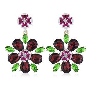Korean fashion earrings women simple wild love flower pendant earrings wholesale NHVA186004's discount tags