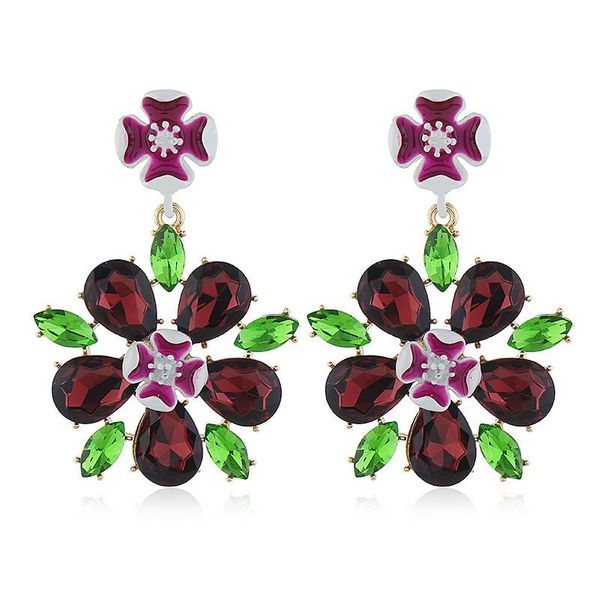Korean fashion earrings women simple wild love flower pendant earrings wholesale NHVA186004