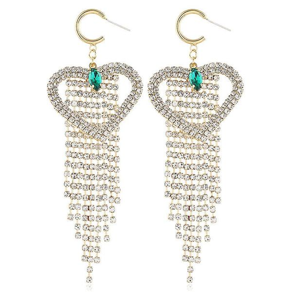 Korean version of the new alloy tassel earrings NHVA186007