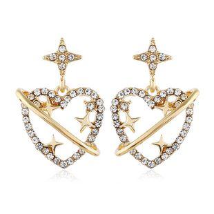 Diamond Love Earrings Female Earrings Korean Simple Earrings Wholesale NHVA186011's discount tags