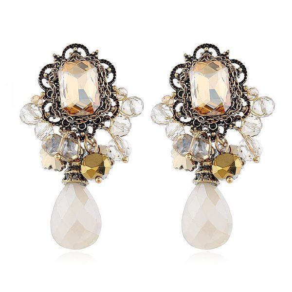 Fashion vintage alloy flower earrings female earrings wholesale NHVA186012