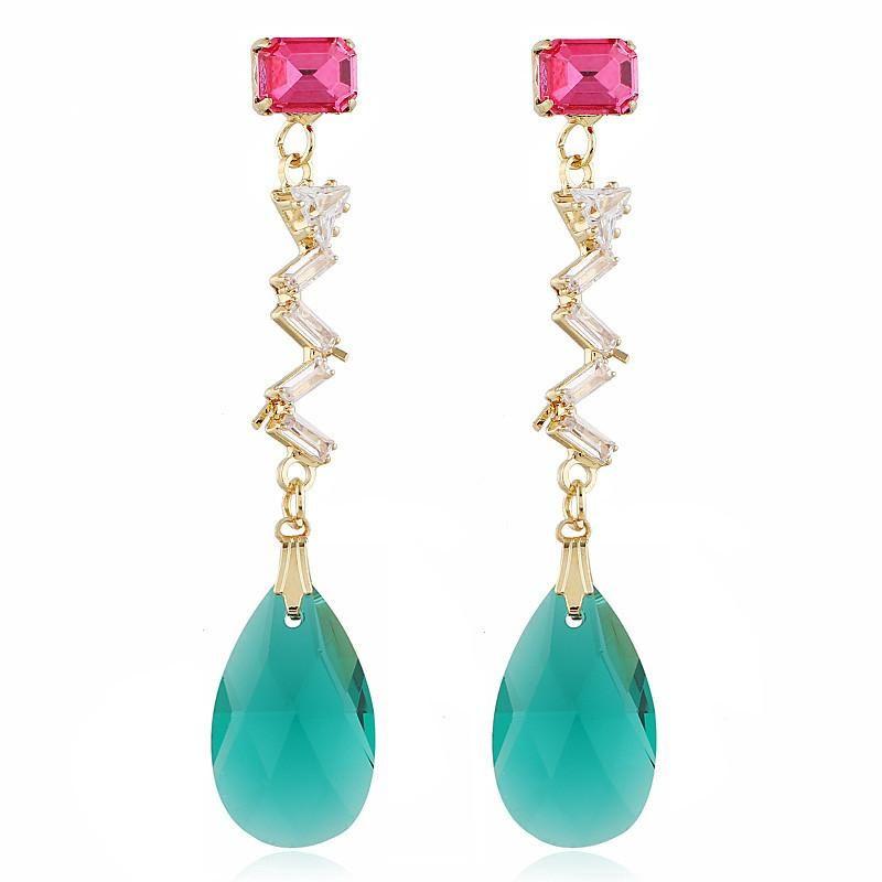 Fashion simple pendant earrings women accessories wholesale wild earrings NHVA186014