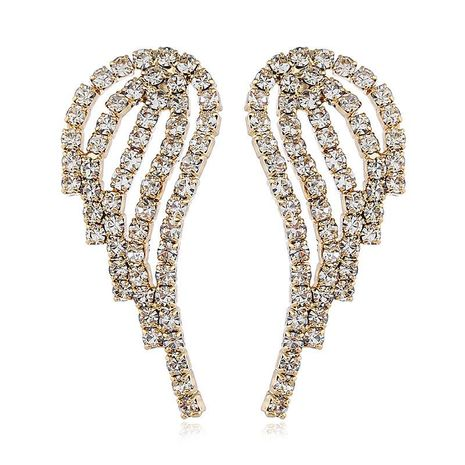 Korean fashion earrings with diamond wings NHVA186015's discount tags