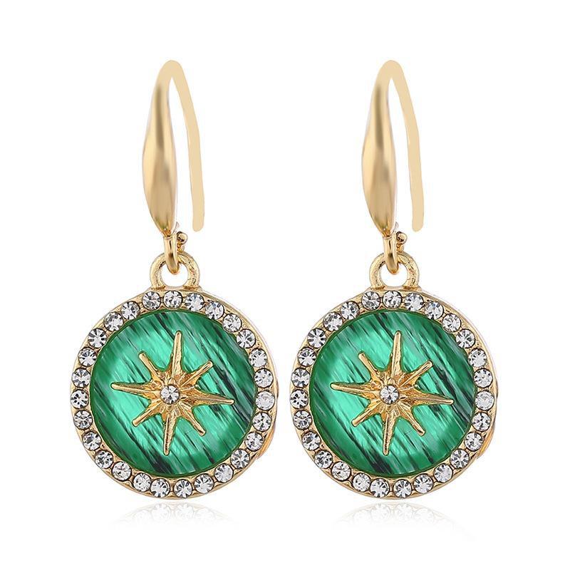 Pendientes de diamantes de aleación de moda al por mayor NHVA186016