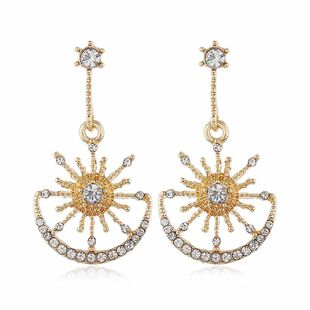 New earrings fashion exaggerated alloy diamond women earrings NHVA186017's discount tags