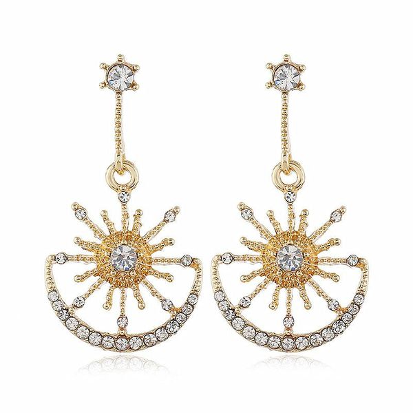 New earrings fashion exaggerated alloy diamond women earrings NHVA186017