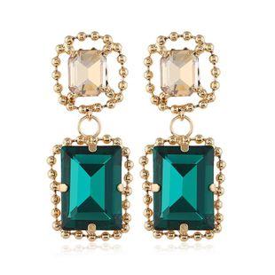New fashion pop square big gem earrings NHVA186019's discount tags