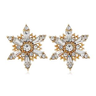 Korean fashion alloy exaggerated stars earrings women NHVA186020's discount tags