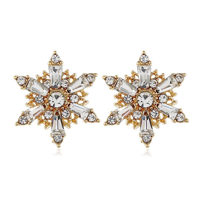 Aleación de moda coreana exagerada estrellas pendientes mujeres NHVA186020