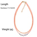Fashion jewelry wholesale creative handmade beaded beaded necklace simple letter word clavicle chain women NHCT185768