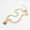 Lock pendant womens simple necklace necklace alloy necklace NHCT185769