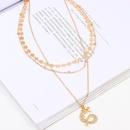 Jewelry Fashion Zodiac Dragon Necklace Geometric Disc 3 Tier Necklace NHNZ185912