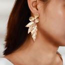 Bohemian Pearl Flower Leaf Long Earrings NHGY185808