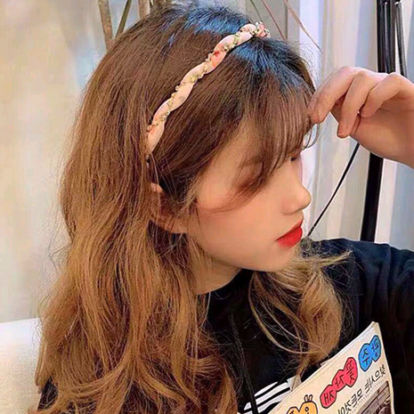 Diadema de pelo de aro de pelo de moda coreana exquisita diadema de tela para mujer NHSC185762's discount tags