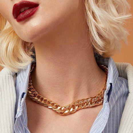 Cadena de clavícula gruesa hebilla de giro de metal cadena de dinero corta hermosa NHMD186060's discount tags