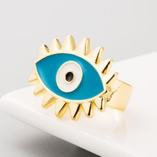 Dripping Demon Eye Simple Couple Ring Punk Wind Male Ring NHLN186086's discount tags