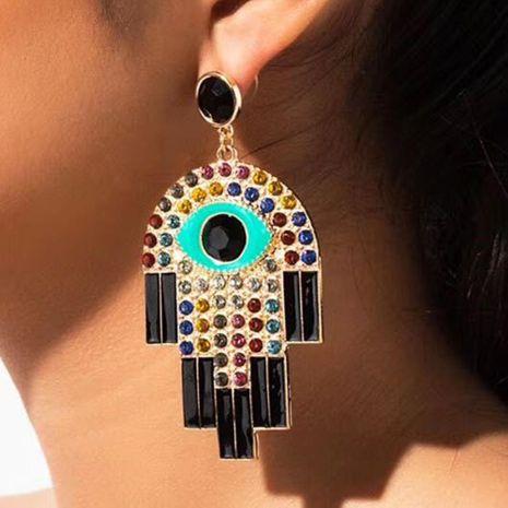 Pendientes nuevos del ojo del diablo Pendientes de diamantes de colores que gotean Joyas NHMD186046's discount tags
