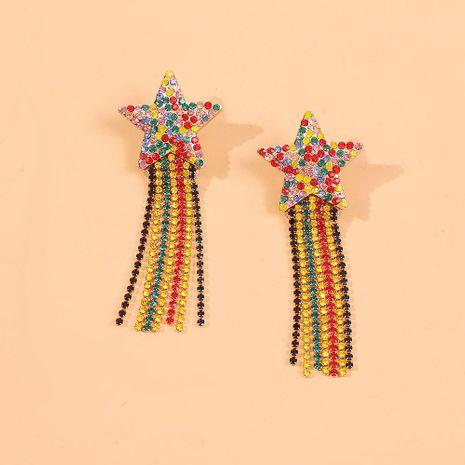Bohemian Star Tassel Geometric Fashion Earrings Simple Long Earrings NHMD186053's discount tags