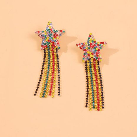 Bohemian Star Tassel Geometric Fashion Earrings Pendientes largos simples NHMD186053's discount tags