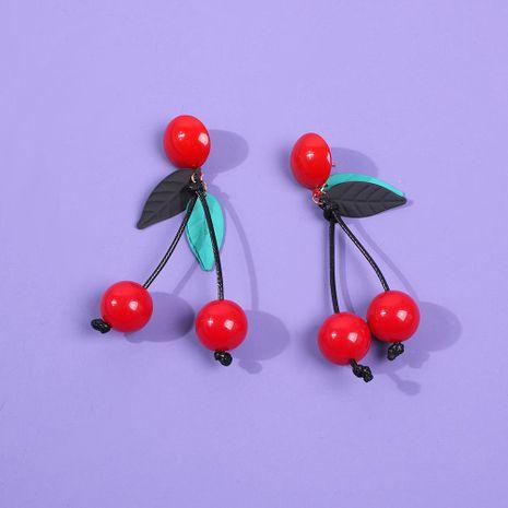 Pendientes de cereza simples pendientes de tendencia redonda roja salvaje de moda NHMD186056's discount tags