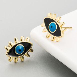 Hot Fashion Female Copper Drop Oil Simple Earrings Devil's Eye Earrings NHLN186073's discount tags