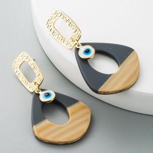 Korean Fashion Earrings Female Acrylic Stud Alloy Devil's Eye Geometric Long Earrings NHLN186079's discount tags