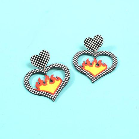 Aretes de estilo Lobucks en forma de corazón nuevo y caliente pendientes de corazón NHMD186055's discount tags