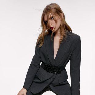 Alloy diamond stretch elastic belt fashion wild waist seal explosion style belt jewelry wholesale NHJQ185853's discount tags