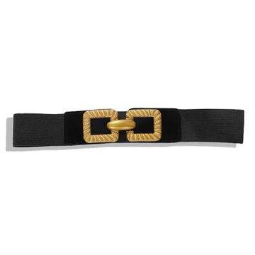 Alloy double ring elastic elastic belt winter new clothing accessories NHJQ185857